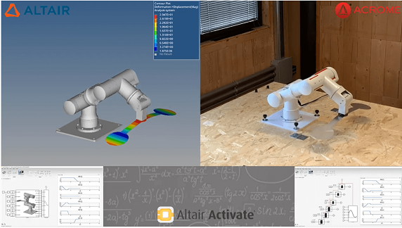 ACROME Acrobot 6-DoF Robot Arm with Altair's Activate MBD Software